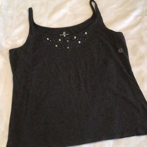 NYC grey jeweled tank